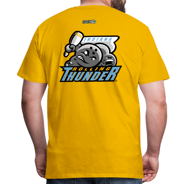 Indiana Rolling Thunder Men's Premium T-Shirt - sun yellow