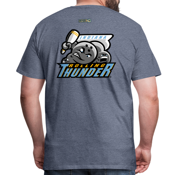 Indiana Rolling Thunder Men's Premium T-Shirt - heather blue