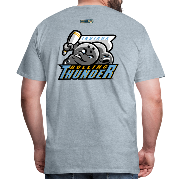 Indiana Rolling Thunder Men's Premium T-Shirt - heather ice blue