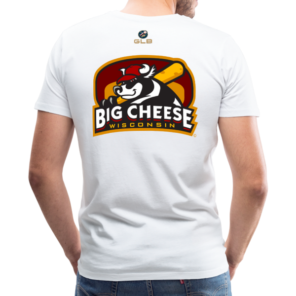 Wisconsin Big Cheese Men's Premium T-Shirt - white