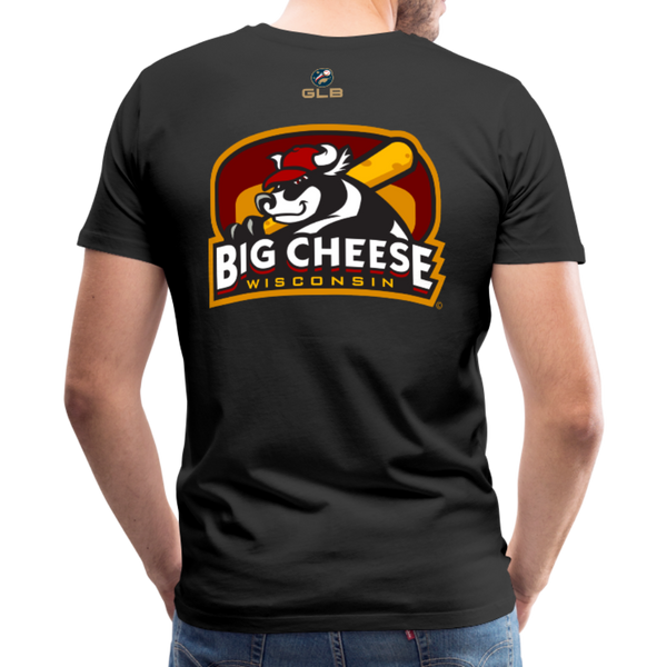 Wisconsin Big Cheese Men's Premium T-Shirt - black