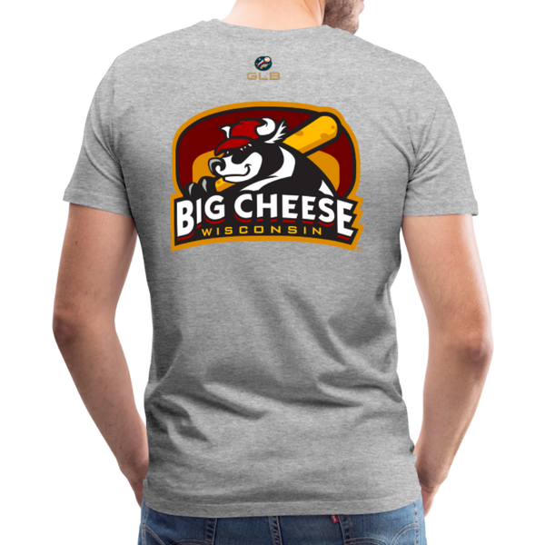 Wisconsin Big Cheese Men's Premium T-Shirt - heather gray
