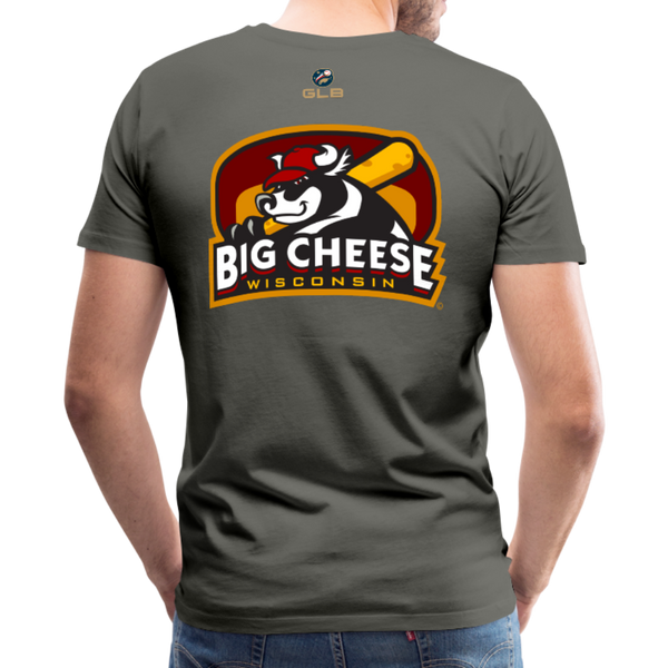 Wisconsin Big Cheese Men's Premium T-Shirt - asphalt gray