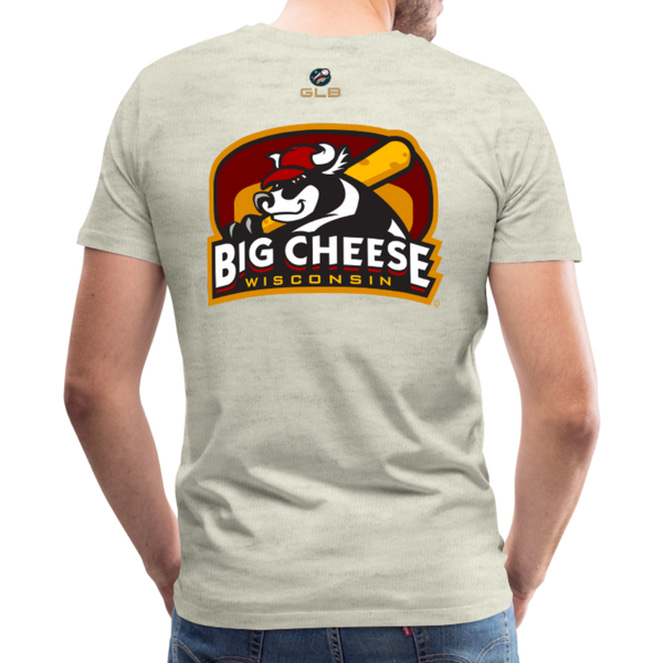 Wisconsin Big Cheese Men's Premium T-Shirt - heather oatmeal