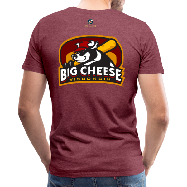 Wisconsin Big Cheese Men's Premium T-Shirt - heather burgundy