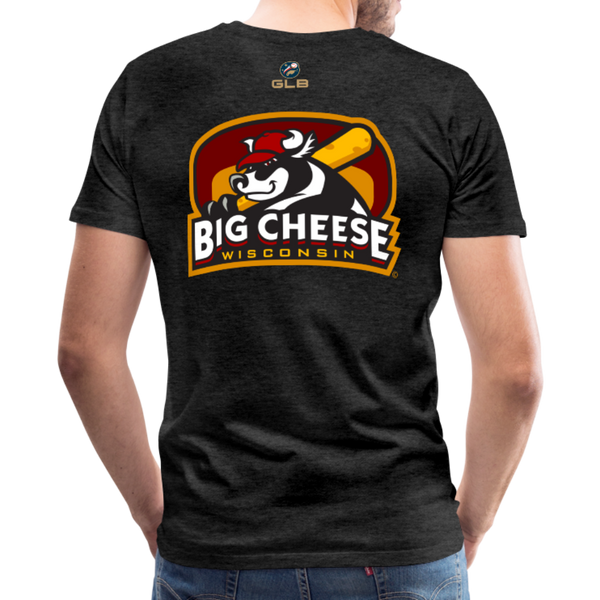Wisconsin Big Cheese Men's Premium T-Shirt - charcoal gray