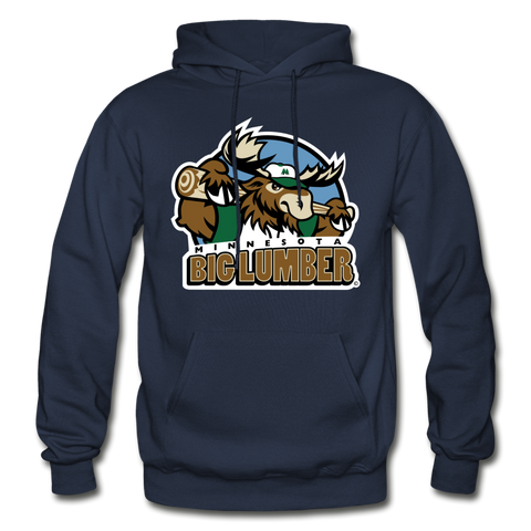 Minnesota Big Lumber Heavy Blend Adult Hoodie - navy