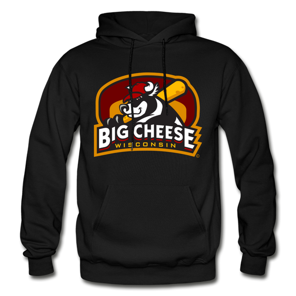 Wisconsin Big Cheese Heavy Blend Adult Hoodie - black