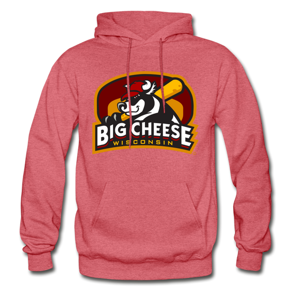 Wisconsin Big Cheese Heavy Blend Adult Hoodie - heather red