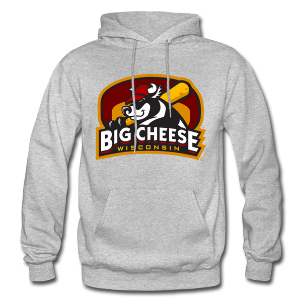 Wisconsin Big Cheese Heavy Blend Adult Hoodie - heather gray