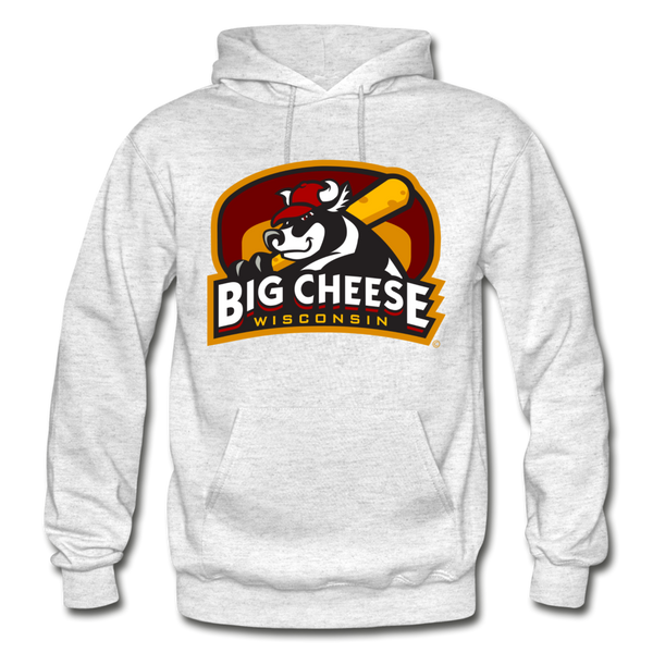 Wisconsin Big Cheese Heavy Blend Adult Hoodie - light heather gray