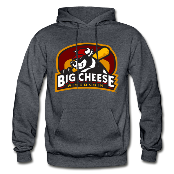 Wisconsin Big Cheese Heavy Blend Adult Hoodie - charcoal gray