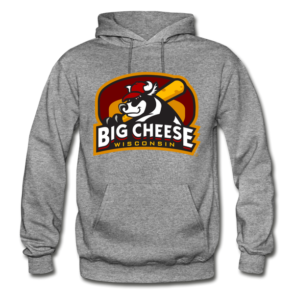 Wisconsin Big Cheese Heavy Blend Adult Hoodie - graphite heather