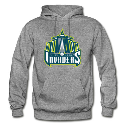 New York Invaders Heavy Blend Adult Hoodie - graphite heather