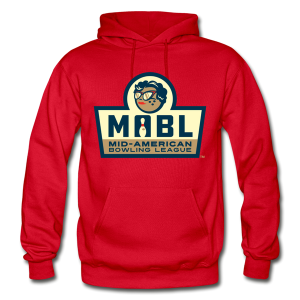 MABL Bowling Heavy Blend Adult Hoodie - red