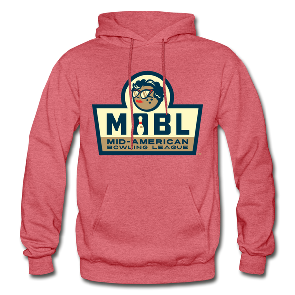 MABL Bowling Heavy Blend Adult Hoodie - heather red