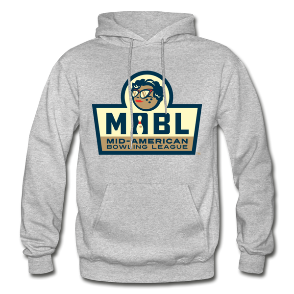 MABL Bowling Heavy Blend Adult Hoodie - heather gray