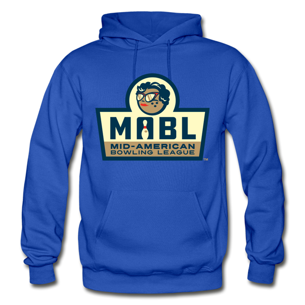 MABL Bowling Heavy Blend Adult Hoodie - royal blue