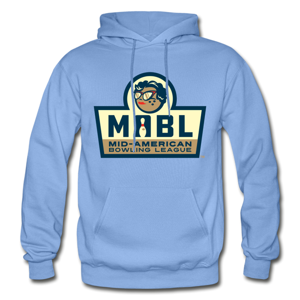 MABL Bowling Heavy Blend Adult Hoodie - carolina blue