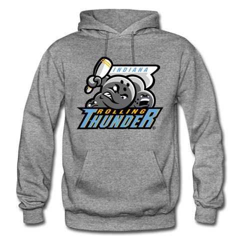 Indiana Rolling Thunder Heavy Blend Adult Hoodie - graphite heather