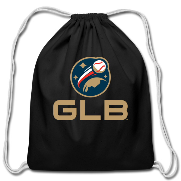 Global League Baseball Cotton Drawstring Bag - black