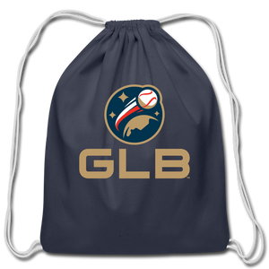 Global League Baseball Cotton Drawstring Bag - navy