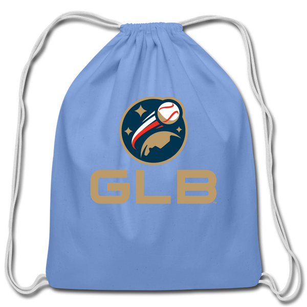 Global League Baseball Cotton Drawstring Bag - carolina blue