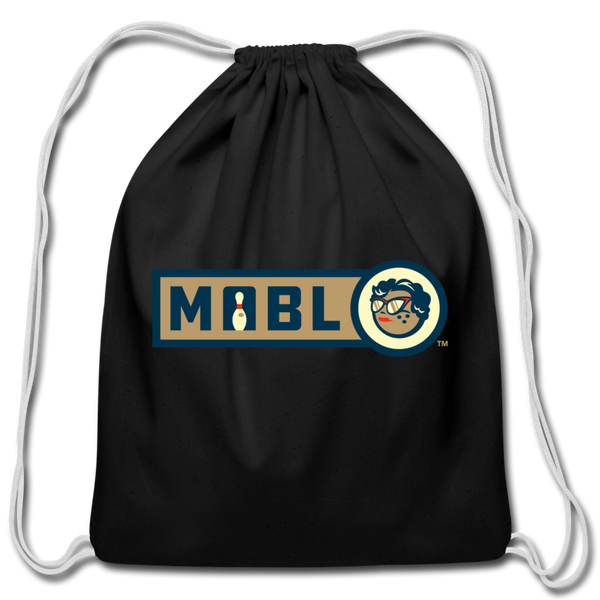 MABL Bowling Cotton Drawstring Bag - black