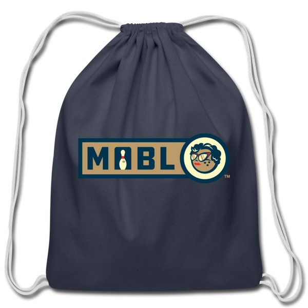MABL Bowling Cotton Drawstring Bag - navy