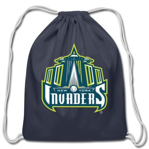 New York Invaders Cotton Drawstring Bag - navy