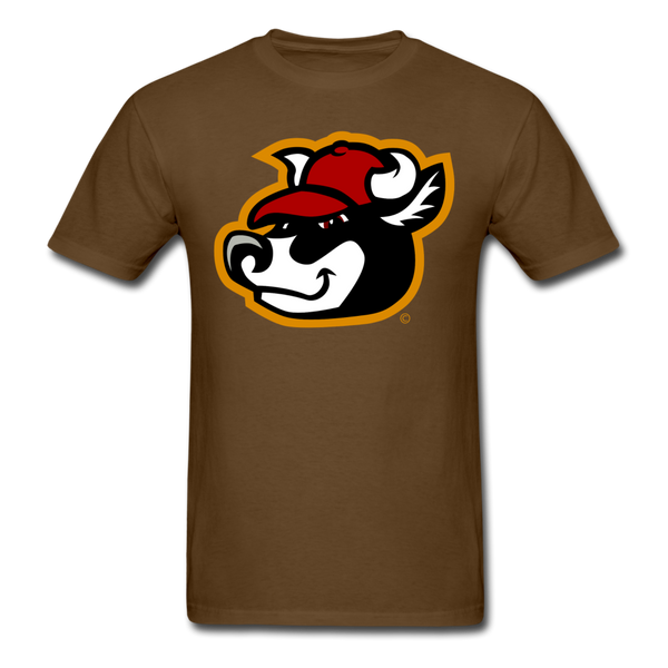Wisconsin Big Cheese Cow Mascot Unisex Classic T-Shirt - brown