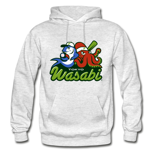 Tokyo Wasabi Heavy Blend Adult Hoodie - light heather gray