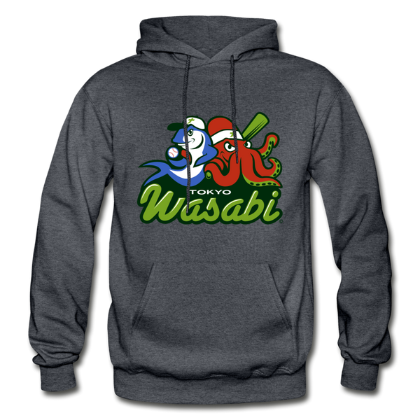 Tokyo Wasabi Heavy Blend Adult Hoodie - charcoal gray