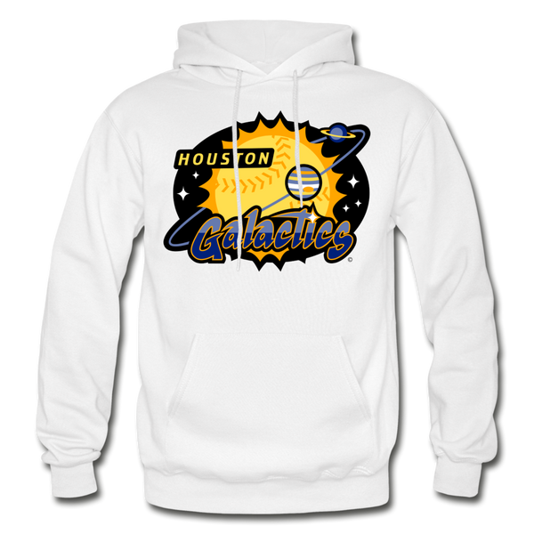Houston Galactics Heavy Blend Adult Hoodie - white