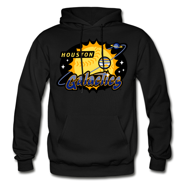 Houston Galactics Heavy Blend Adult Hoodie - black