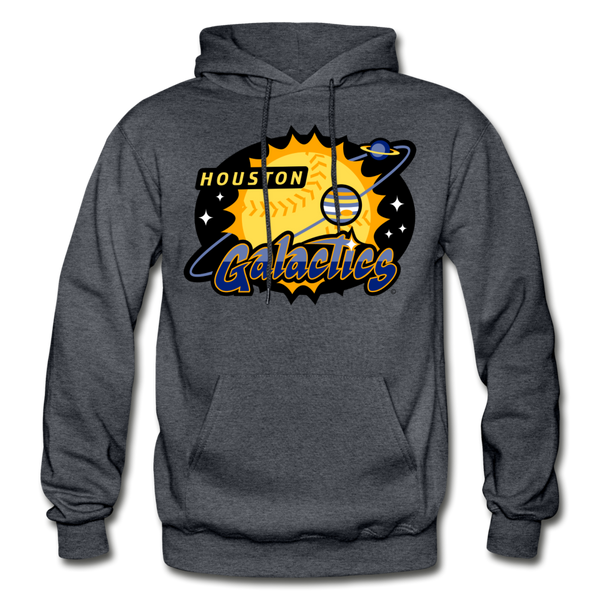 Houston Galactics Heavy Blend Adult Hoodie - charcoal gray