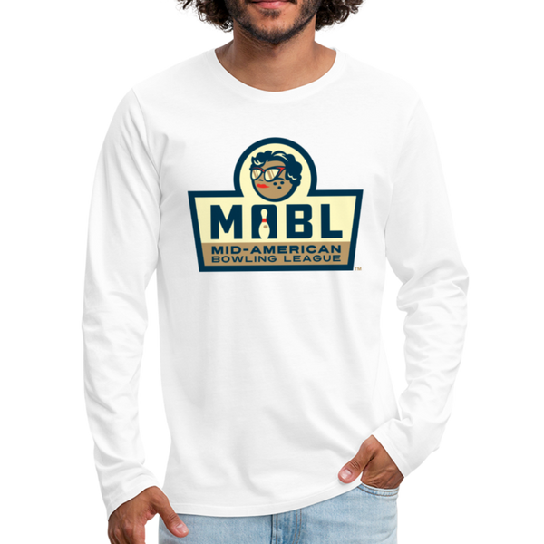 MABL Bowling Men's Long Sleeve T-Shirt - white