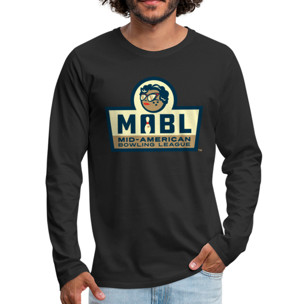 MABL Bowling Men's Long Sleeve T-Shirt - black