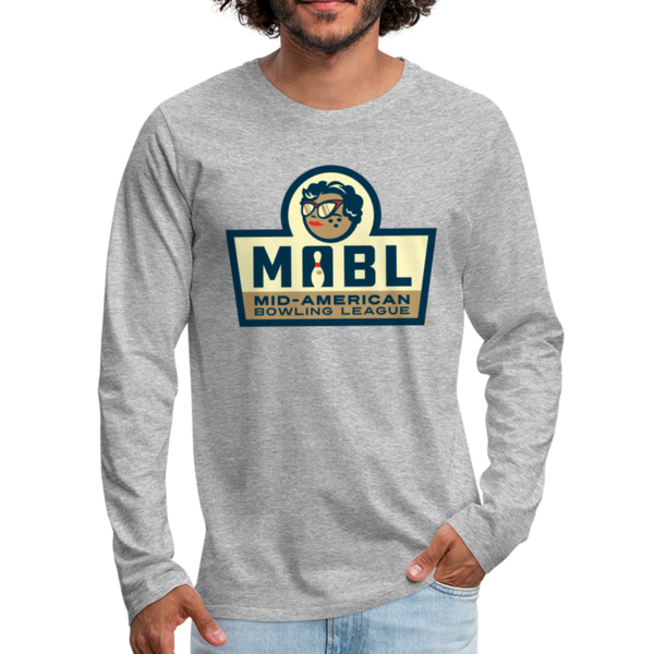 MABL Bowling Men's Long Sleeve T-Shirt - heather gray