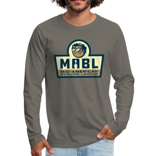 MABL Bowling Men's Long Sleeve T-Shirt - asphalt gray