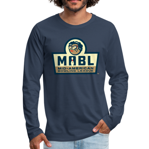 MABL Bowling Men's Long Sleeve T-Shirt - navy