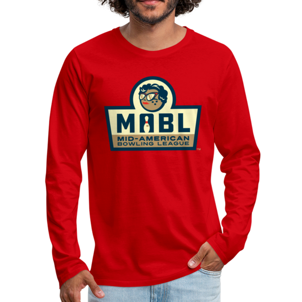 MABL Bowling Men's Long Sleeve T-Shirt - red