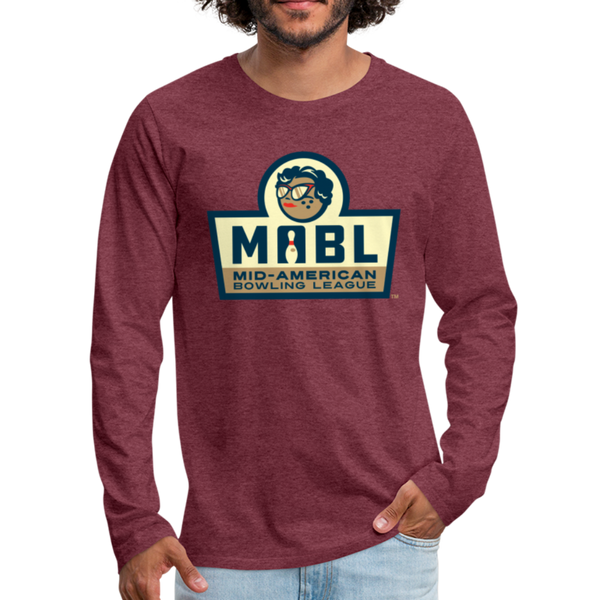 MABL Bowling Men's Long Sleeve T-Shirt - heather burgundy
