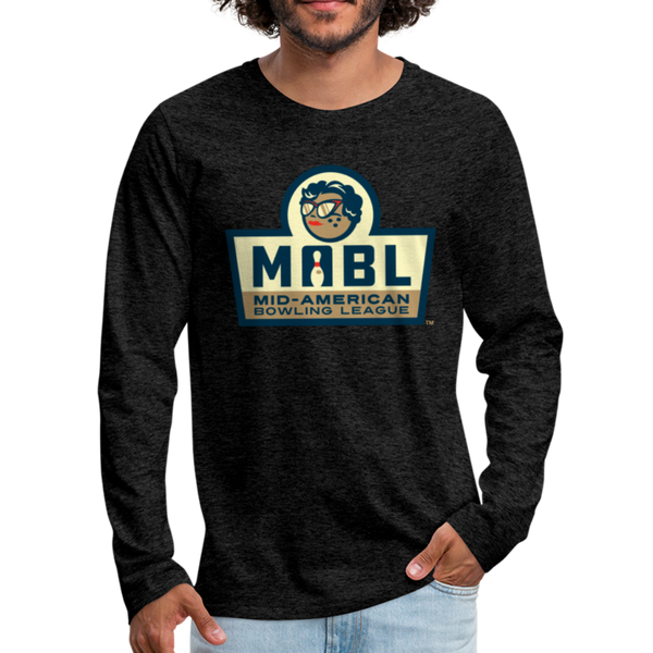 MABL Bowling Men's Long Sleeve T-Shirt - charcoal gray