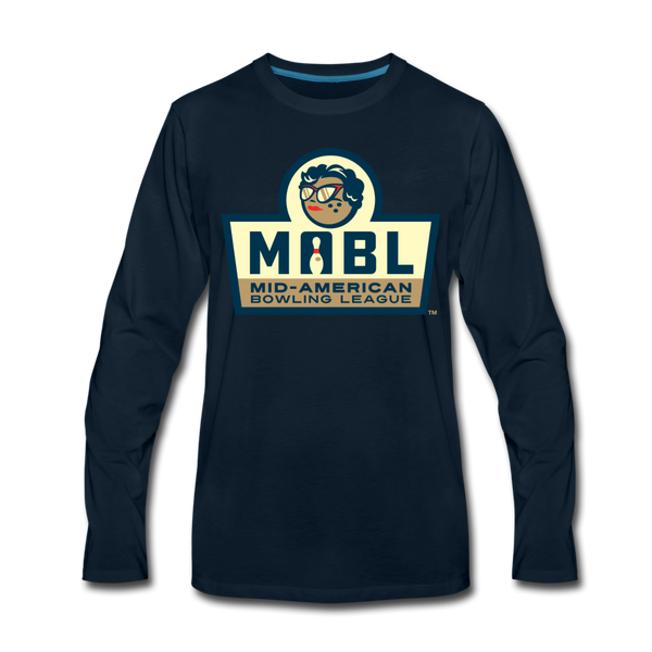 MABL Bowling Men's Long Sleeve T-Shirt - deep navy