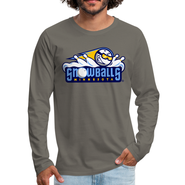 Minnesota Snowballs Men's Long Sleeve T-Shirt - asphalt gray