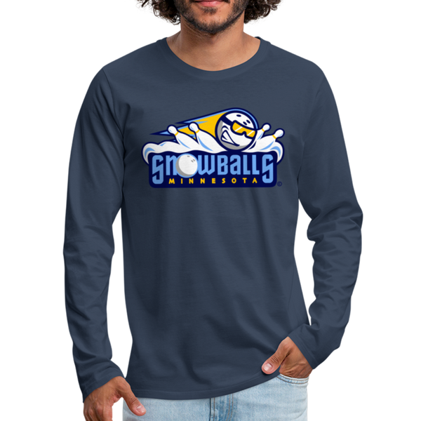 Minnesota Snowballs Men's Long Sleeve T-Shirt - navy