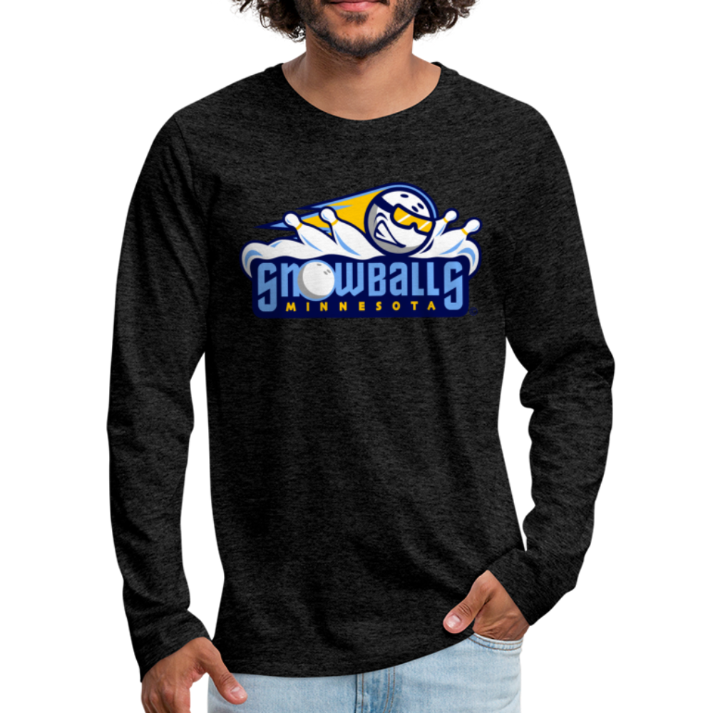 Minnesota Snowballs Men's Long Sleeve T-Shirt - charcoal gray