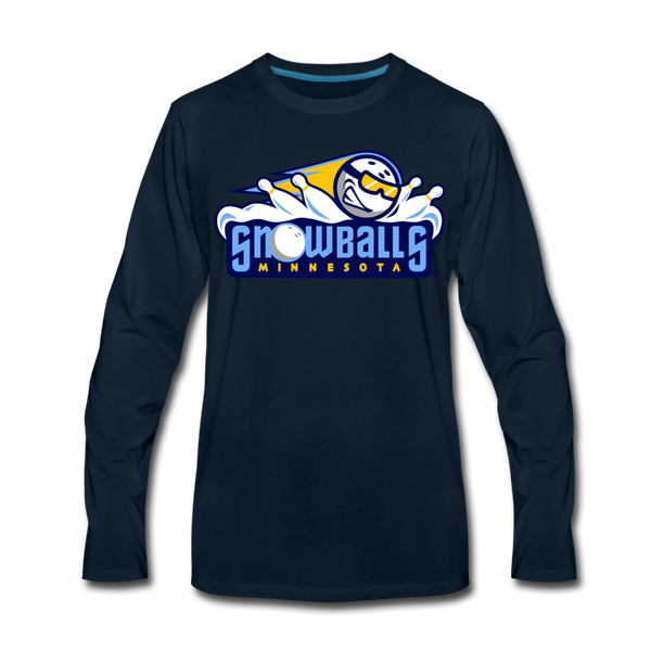 Minnesota Snowballs Men's Long Sleeve T-Shirt - deep navy