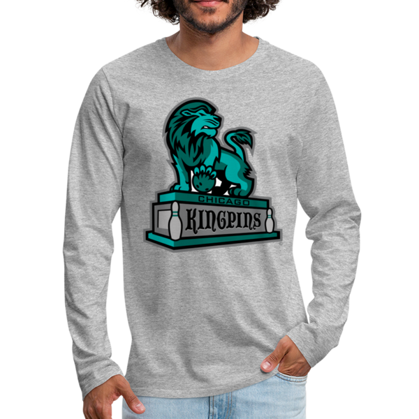 Chicago Kingpins Men's Long Sleeve T-Shirt - heather gray